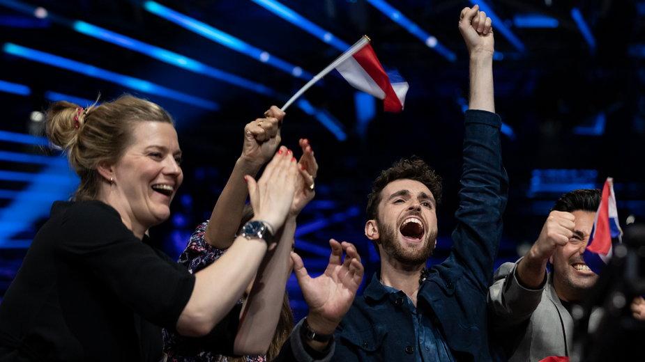 Duncan Laurence podczas Eurowizji w 2019 r.
