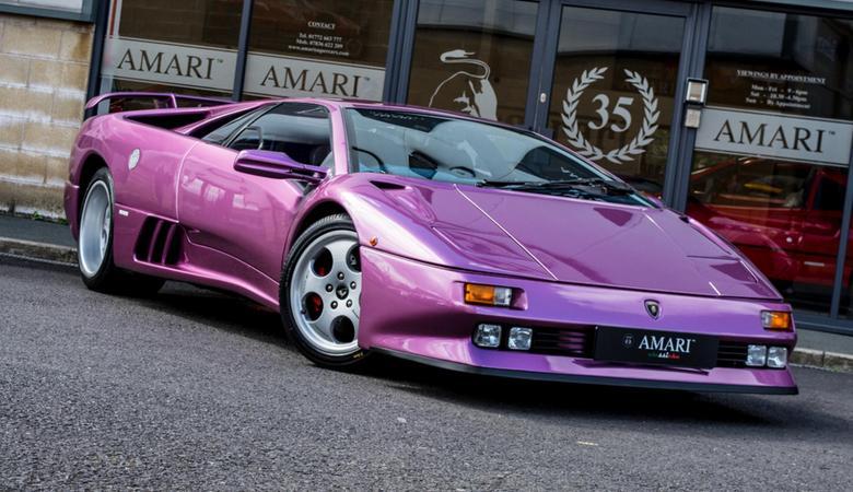 Ciekawostka z ogłoszenia: Lamborghini Diablo SE30 z Cosmic Girl