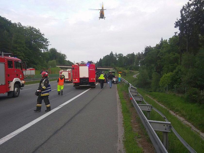 Groźny wypadek na A4