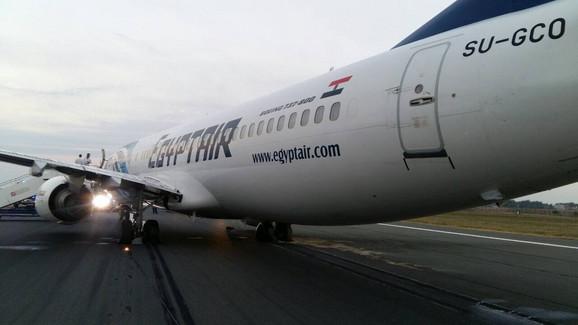 Egipatski avion na beogradskom aerodromu
