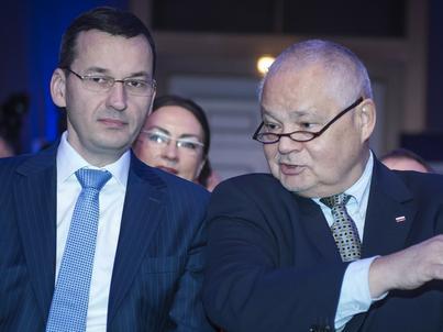 Prof. Glapiński oraz wicepremier Mateusz Morawiecki