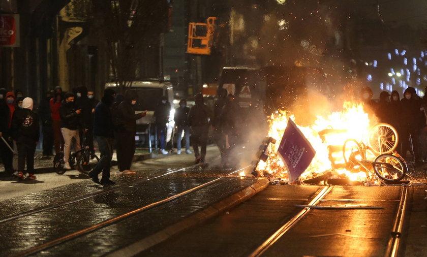 Zamieszki z Brukseli po śmierci 23-latka