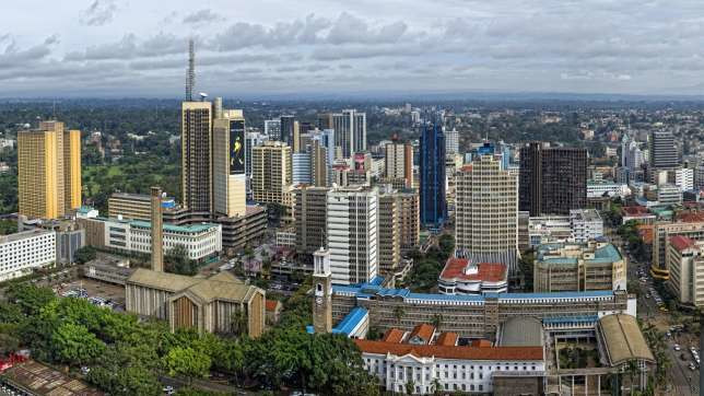Nairobi City skyline; Kenya is one of the biggest tech hubs in Sub-Sahara Africa and the country had 27 tech hubs spread across the country as of 2016.