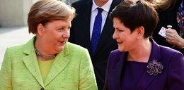 Szydło poleciała do Niemiec. Witała ją sama Merkel