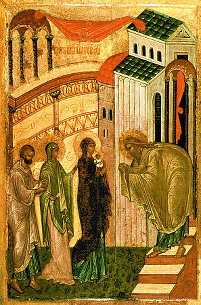 Simeon Bogoprimac prima bogomladenca Isusa