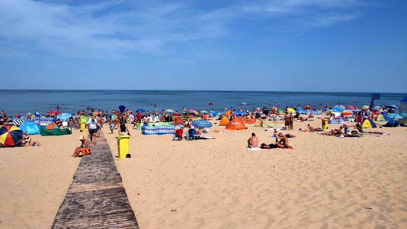 Najszersze plaże Polski 2015