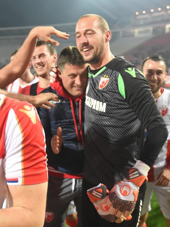 Trener Zvezde Vladan Milojević i golman Milan Borjan