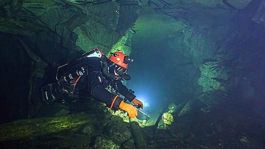 Podwodne chodniki w kopalni uranu w Podgórzu