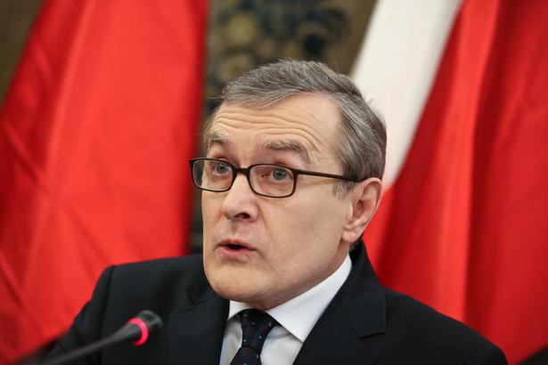 Prof. Gliński wygłosił przemówienie programowe.