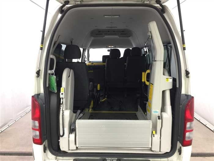 The Vans can accommodate wheelchairs comfortably and have an automated switch that can carry the wheelchair from the ground.