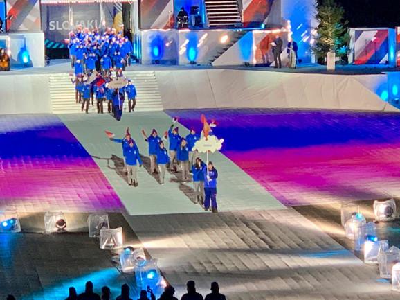Naši sportisti na svečanoj ceremoniji otvaranja Zimskog EJOF-a
