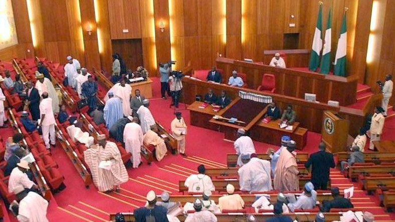 The Nigerian Senate after close of plenary.