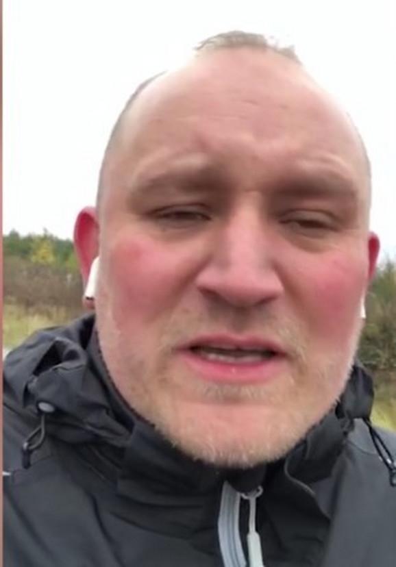 U šoku: Stefan Frike pokušao je da pomogne Marku