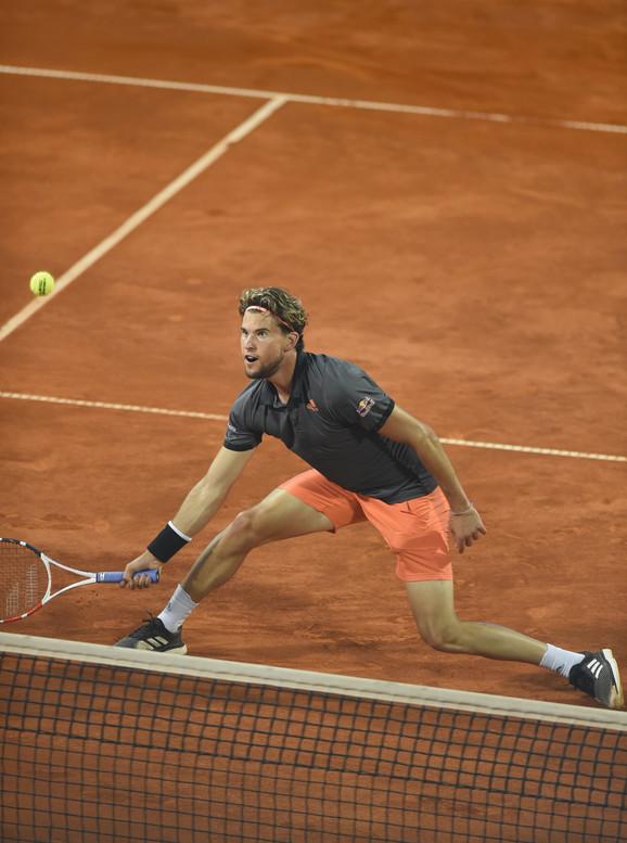 Dominik Tim na finalu Adria tour turnira u Beogradu protiv Filipa Krajinovića