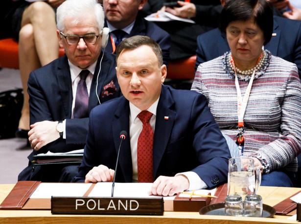 """""""Wyraziłem wdzięczność za poparcie, jakie wtedy uzyskaliśmy; mam nadzieję, że tego zaufania, które nam dano, nie zawiedziemy pracując w RB ONZ"""" - dodał prezydent"""