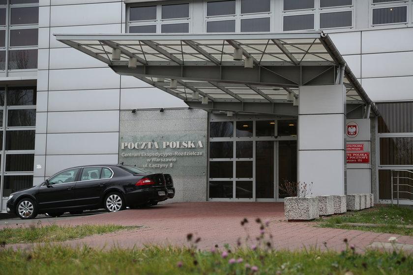 Budynek Poczty Polskiej w Warszawie przy ulicy Łączyny 8