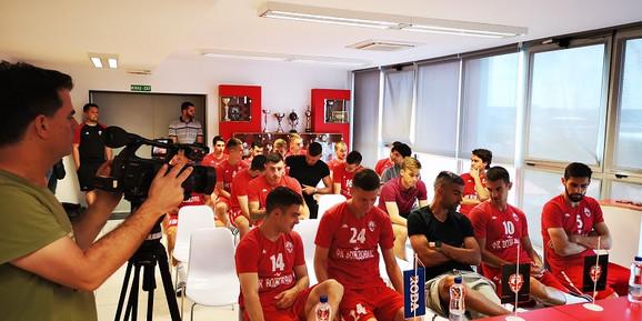 Igrači FK Voždovac na okupljanju pred start priprema za novu sezonu