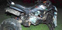 Wypadek na quadzie. Rannych trzech młodzieńców