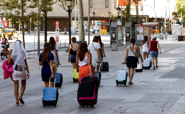 Turyści w Barcelonie