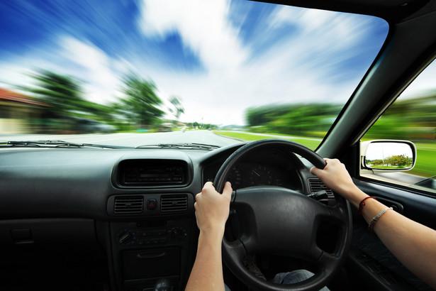 samochód, kierowca, kierownica