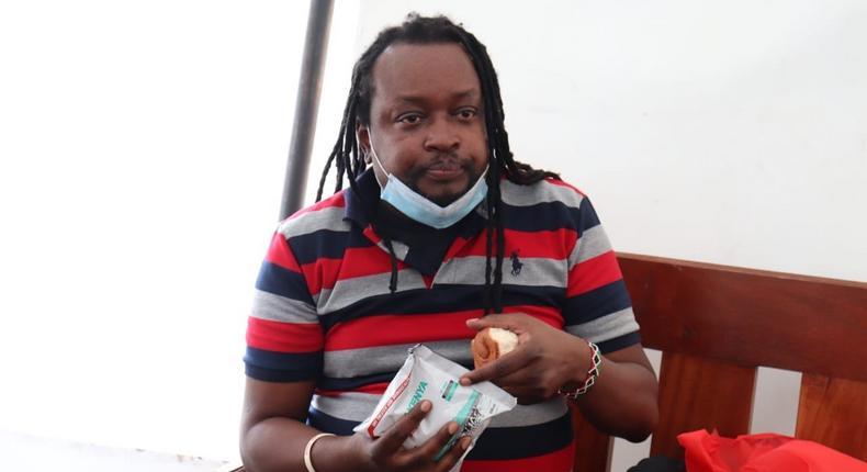 Activist Edwin Kiama during a acourt appearance