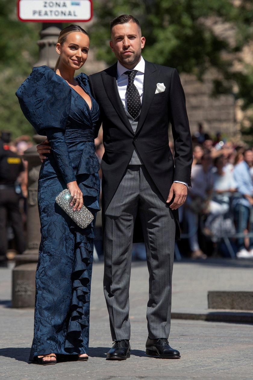 Jordi Alba z żoną Romarey Ventura