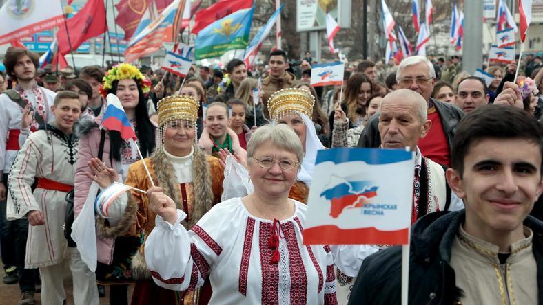 Prorsyjskia demonstracja na Krymie