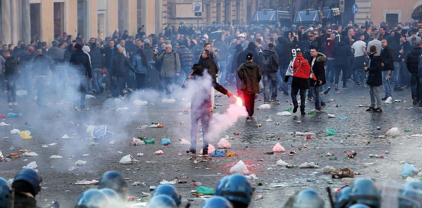 Holenderscy kibice zdewastowali Rzym!