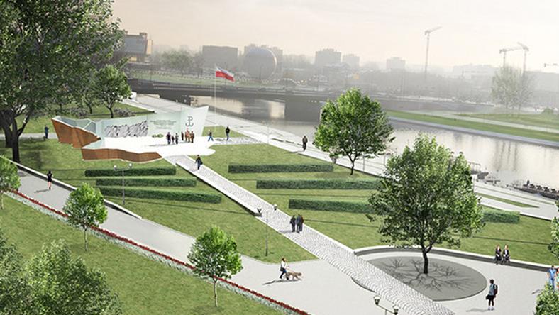 Projekt pomnika AK, który ma powstać w Krakowie