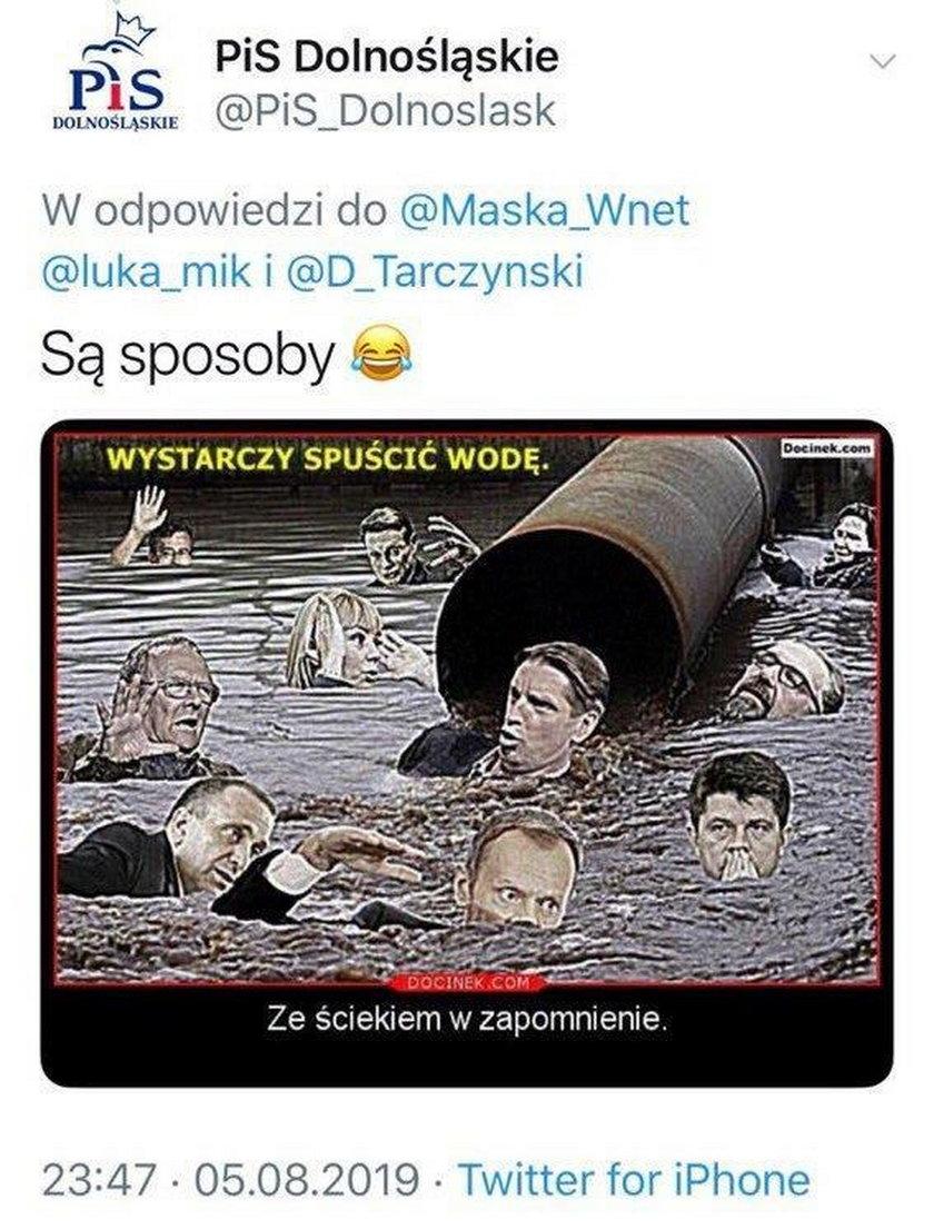 PiS przeprasza PO za kontrowersyjną grafikę