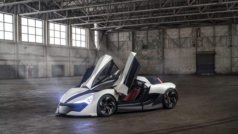 """Apex Motors, a UK car company, unveiled its AP-0 concept EV at an event in London earlier this month. The odd-looking supercar packs racing-inspired technology, a powerful motor, and some design elements that can only be described as """"unique."""""""