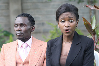 File photo of Esther Arunga and Joseph Hellon