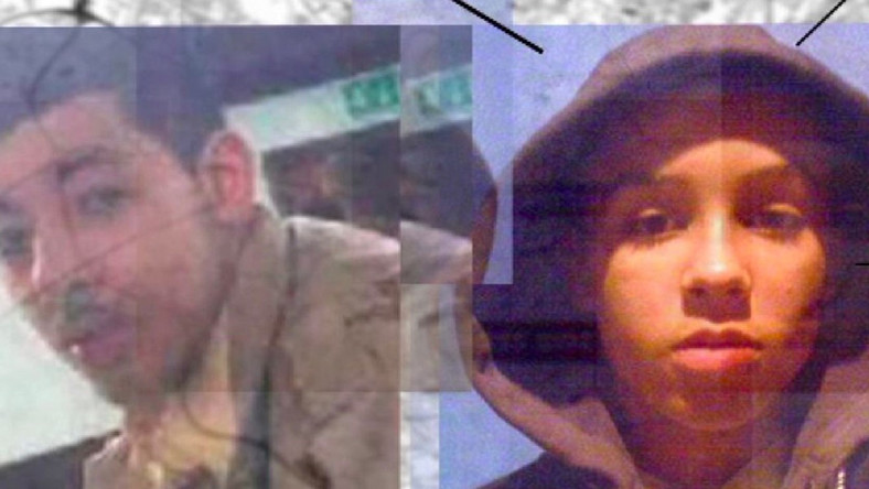 (L) Salman Abedi and ISIS recruiter Raphael Hostey.