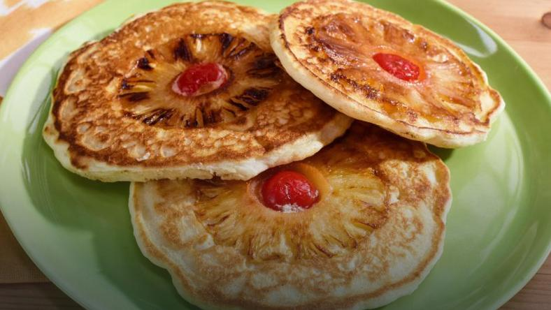 Pineapple pancakes (Photo credit - Food network)