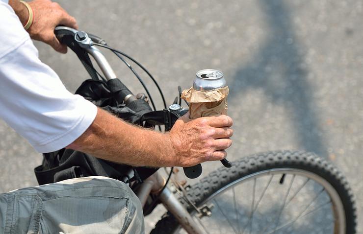 Pijani biciklista, pokrivalica