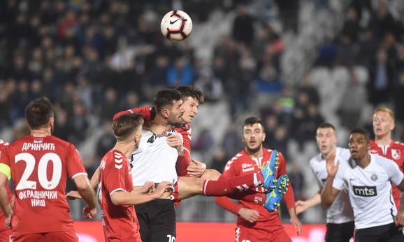 Detalj sa utakmice Partizan - Radnički