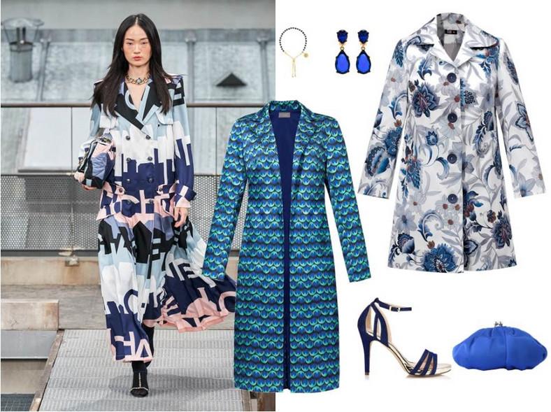 Wiosenne płaszcze pełne kolorów, kwiatów i printów to hit. Są miłą odskocznią od szarych, burych i ponurych płaszczy, które nosiłyśmy zimą. NA ZDJĘCIU:płaszcz w kwiaty - Midori Feminine Fashion/ midori.pl, płaszcz w pawie oka- Cosel/ cosel.moda, biżuteria - TK Maxx