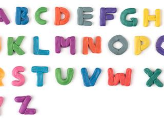 colorful plasticine letters