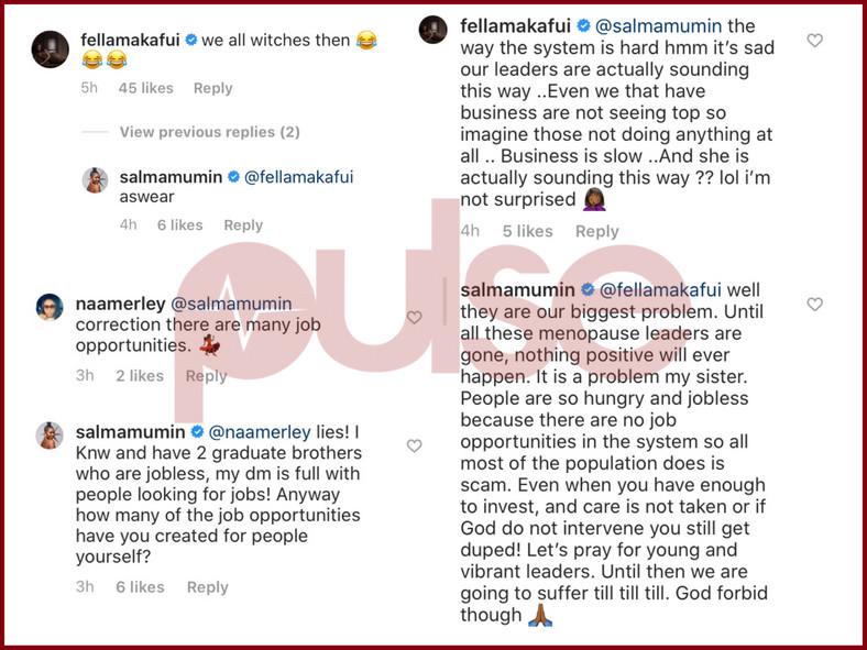 Fella Makafui replies Ursual Owusu