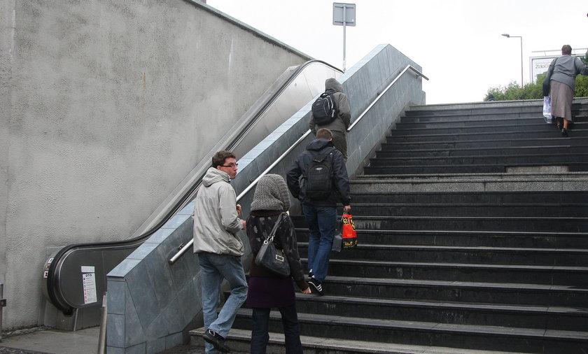 popsute ruchome schody