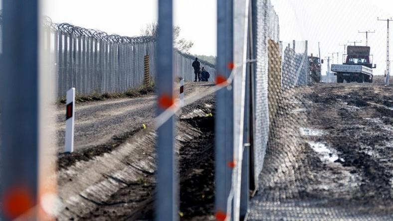 A new fence is being built at the Hungarian-Serbian border on October 27, 2016