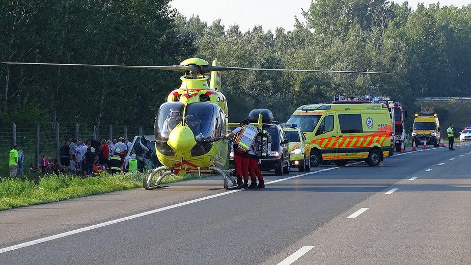 Wypadek autokaru na Węgrzech