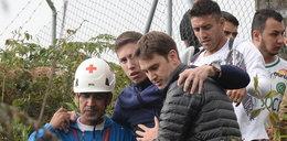 Ocaleni piłkarze odwiedzili miejsce katastrofy