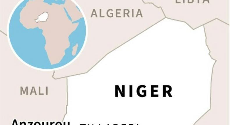Map of Niger locating the Tillaberi region