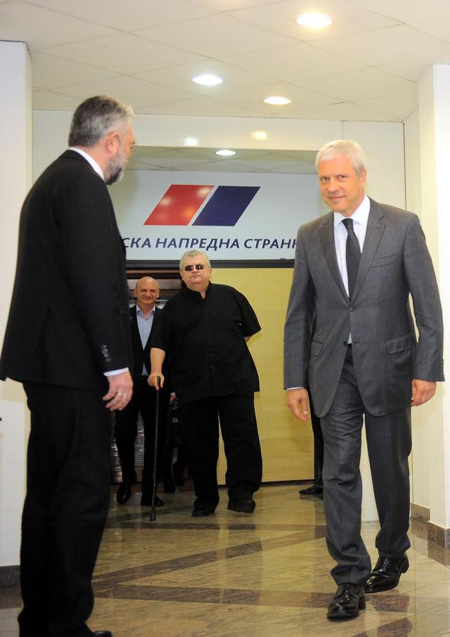 Tadić, Čanak i Petrović u sedištu SNS