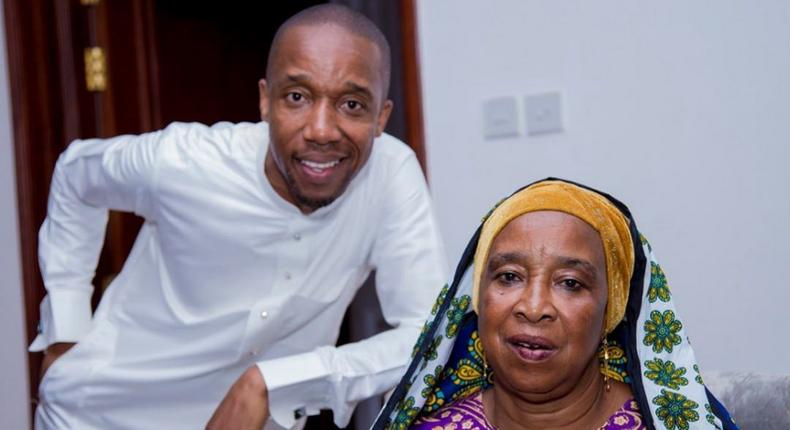 Rashid Abdalla with his Mother. Take heart and be strong - Rashid Abdalla's prayer for his ailing mother