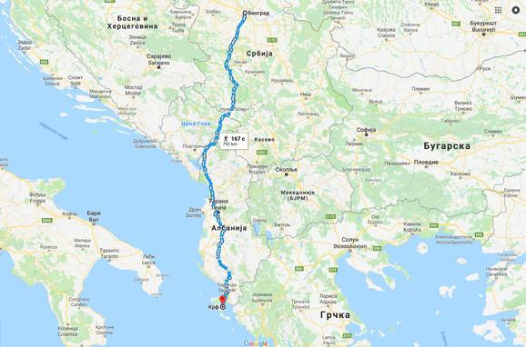Do Grčke preko Albanije