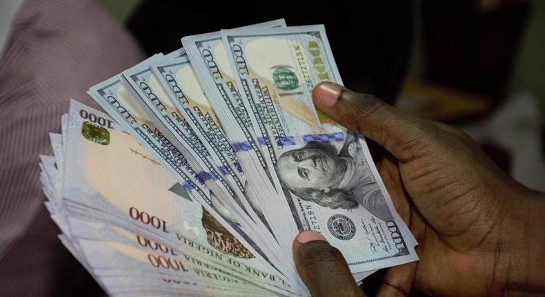Naira to dollar rate in Nigeria