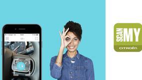 Skanowanie Citroena kamerą w smartfonie