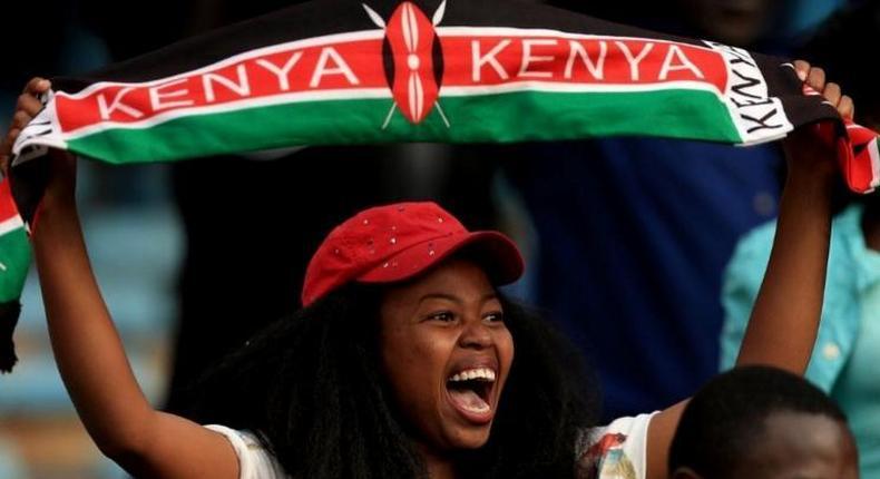 A Kenyan celebrating. (Music In Africa)